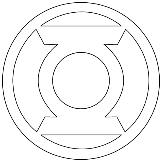 green lantern logo coloring pages - Green Lantern Logo Coloring Pages
