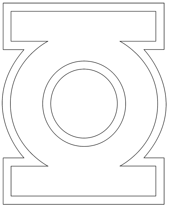 Green Lantern Logo Coloring Pages | Murderthestout