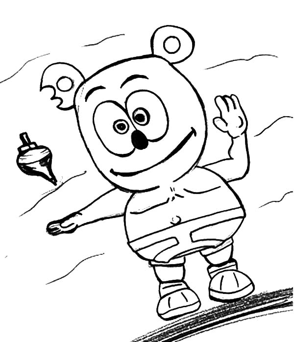 graphic regarding Gummy Bear Printable known as Gummy Undertake Coloring Internet pages
