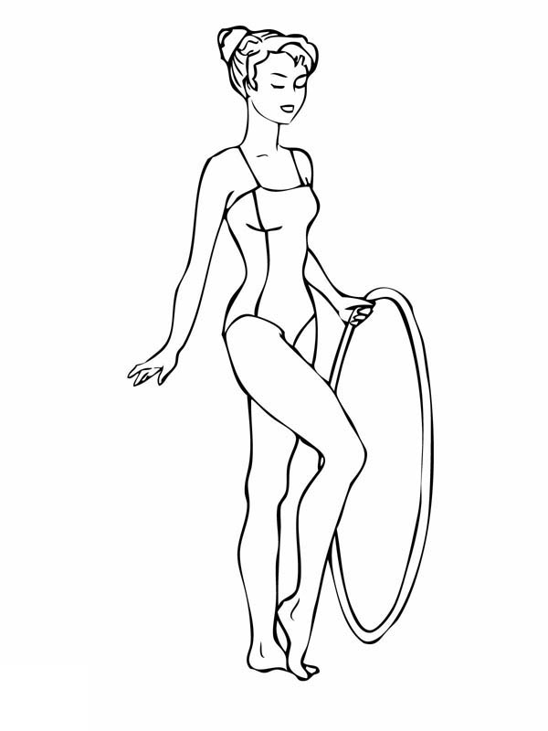 gymnasics coloring pages - photo#31