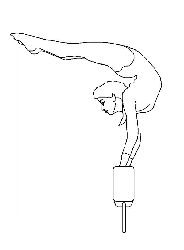 gymnasics coloring pages - photo#13