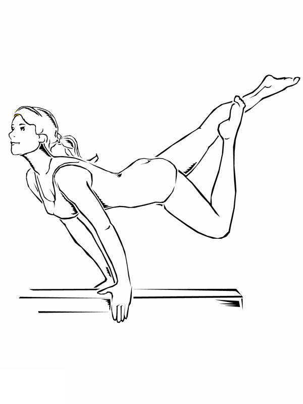 Printable Gymnastics Coloring Pages Coloringme Com
