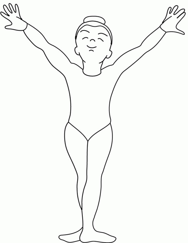 Printable Gymnastics Coloring Pages | Coloring Me