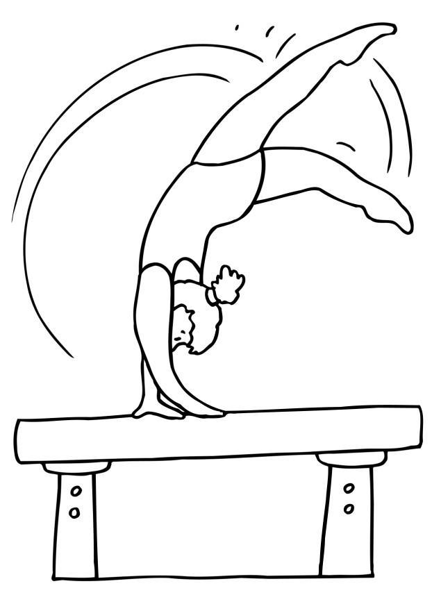 gymnastics coloring sheets - Gymnastics Coloring Pages