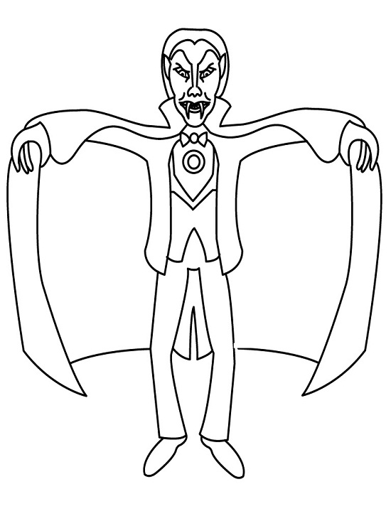 Vampire Blood Coloring Pages Sketch Coloring Page