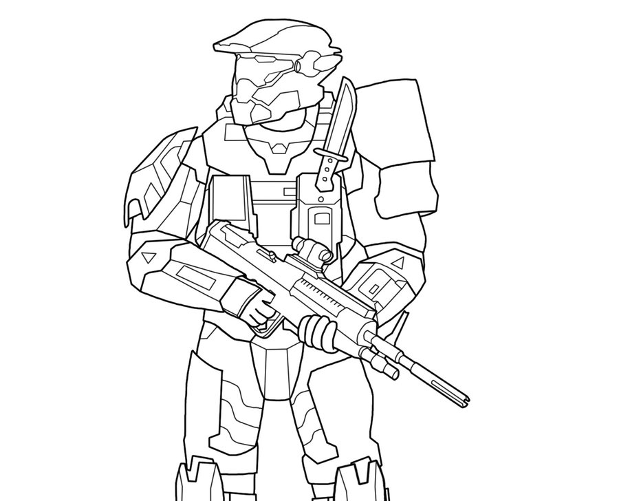 Printable Halo Reach Coloring Pages Coloring Me