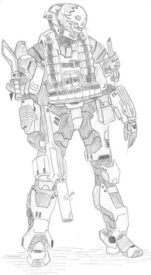 Halo Reach Emile Coloring Pages