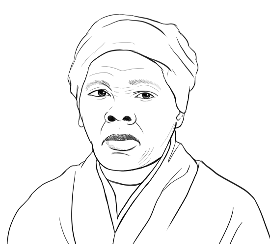 harriet tubman coloring page