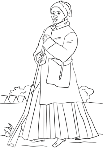 Printable Harriet Tubman Coloring Pages Coloring Me Harriet Tubman Coloring Page