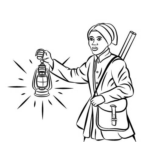 harriet tubman coloring pages pictures