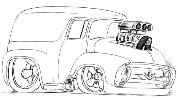 Printable Hot Rod Coloring Pages Coloringme Com
