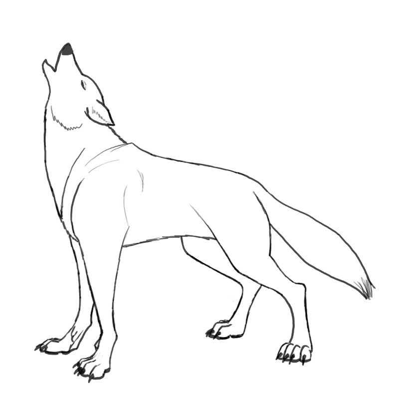 howling wolves coloring pages