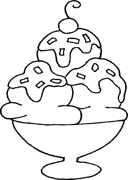 Ice Cream Sandwich Coloring Page Coloring Pages