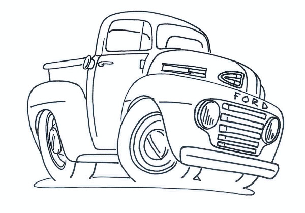 hotrod coloring pages - photo#32