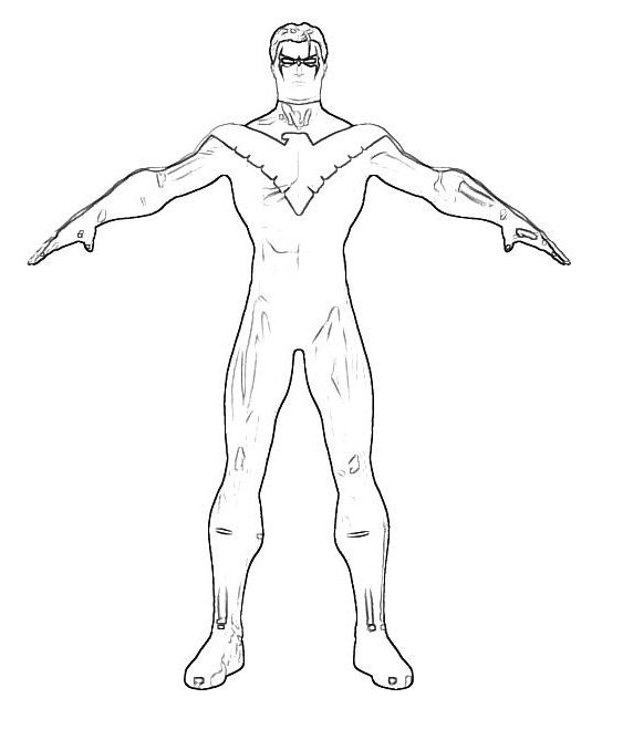 Printable Nightwing Coloring Pages Coloring Me Nightwing Coloring Pages