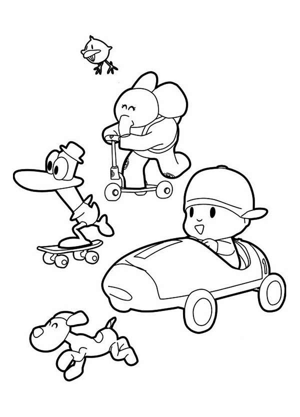 pocoyo coloring pages - photo#14