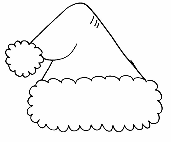images of santa hat coloring page