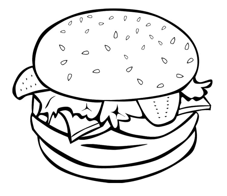 healthy fast food coloring pages - photo#12