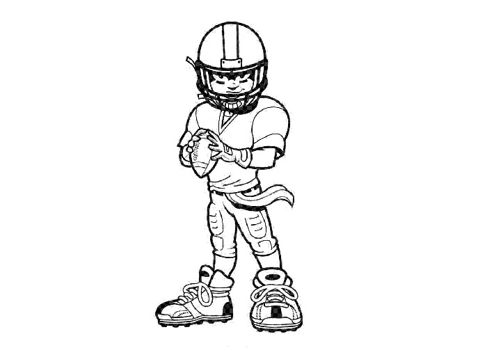 nfl coloring page pages eagles football player