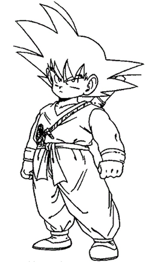 coloring pages of goku - photo#23