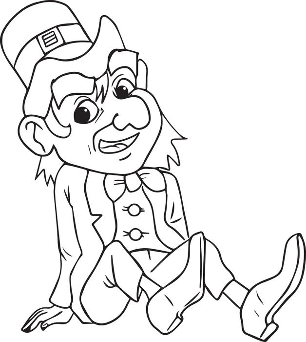leprechaun coloring sheets baby leprechaun coloring pages