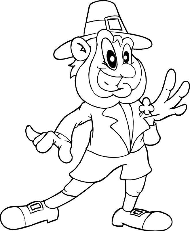 Free Printable Leprechaun St. Patrick's Day Coloring Page - Simple ... | 799x660