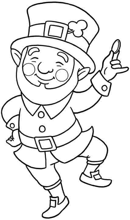 leprechaun coloring pages - Irish Coloring Pages