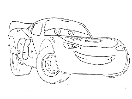 Lightning McQueen Coloring Pages Free