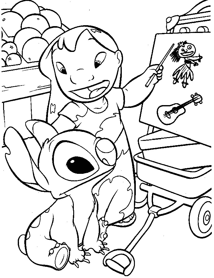 Lilo & Stitch coloring pages | Free Coloring Pages | 894x687