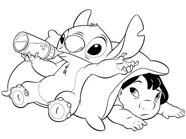 Printable Lilo and Stitch Coloring Pages For Kids | 449x600