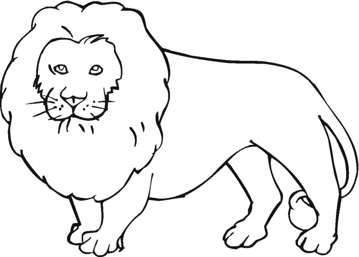 Coloring Pages Of Lions #7