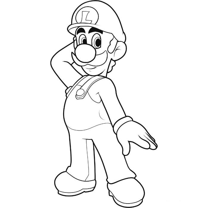 Printable Luigi Coloring pages | Coloring Me