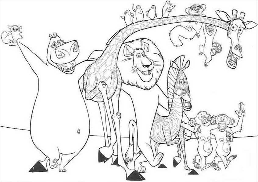Printable Madagascar Coloring Pages Coloring Me Madagascar Coloring Pages Printable