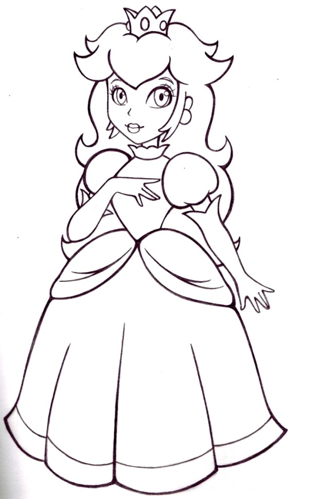 Mario Brothers Princess Peach Coloring Pages Coloringme Com