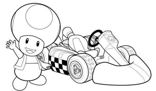 Printable Mario Kart Coloring Pages | Coloring Me