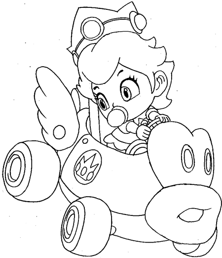 mario cart wii coloring pages - photo#31