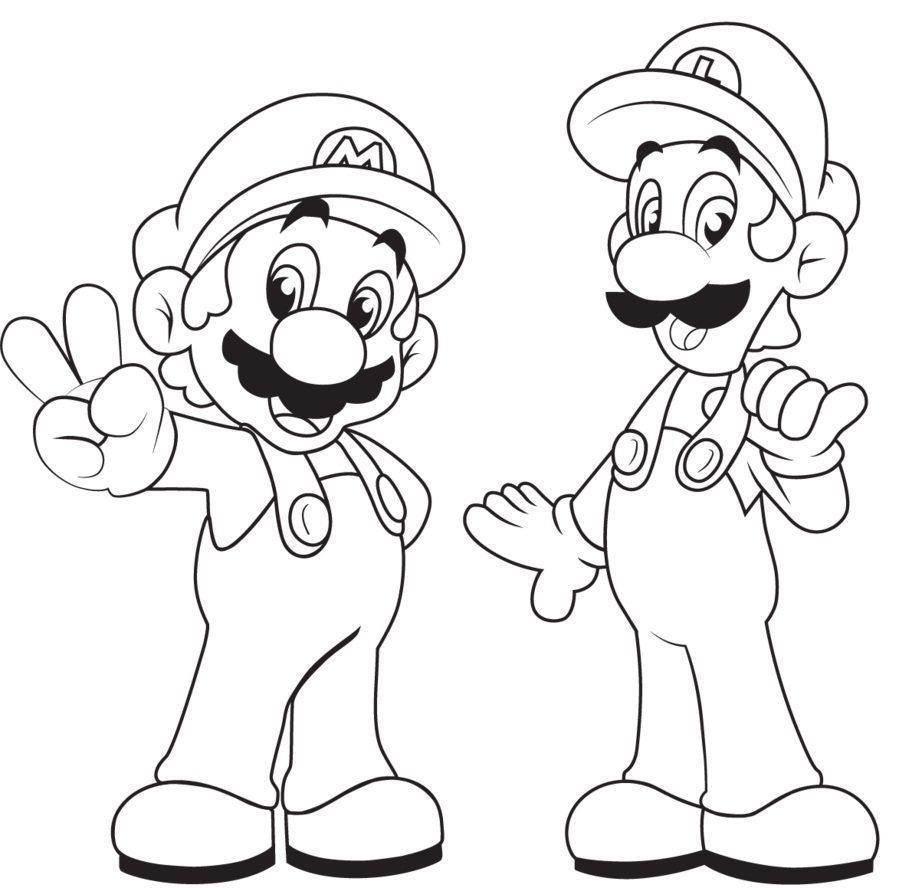 printable luigi coloring pages coloring me