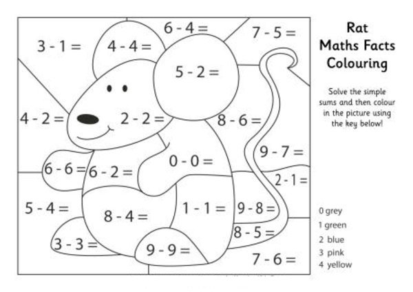 math facts coloring pages - photo#35