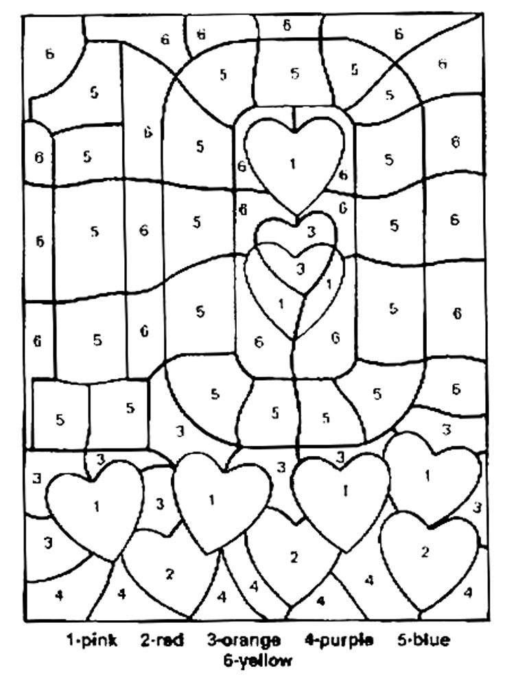 Color by number math worksheets for middle school for Math coloring pages printable