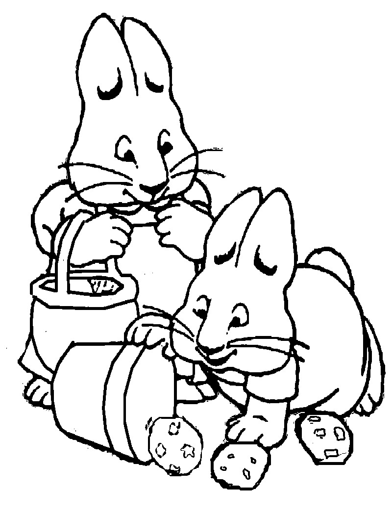 Printable Max And Ruby Coloring Pages Coloring Me Max Ruby Coloring