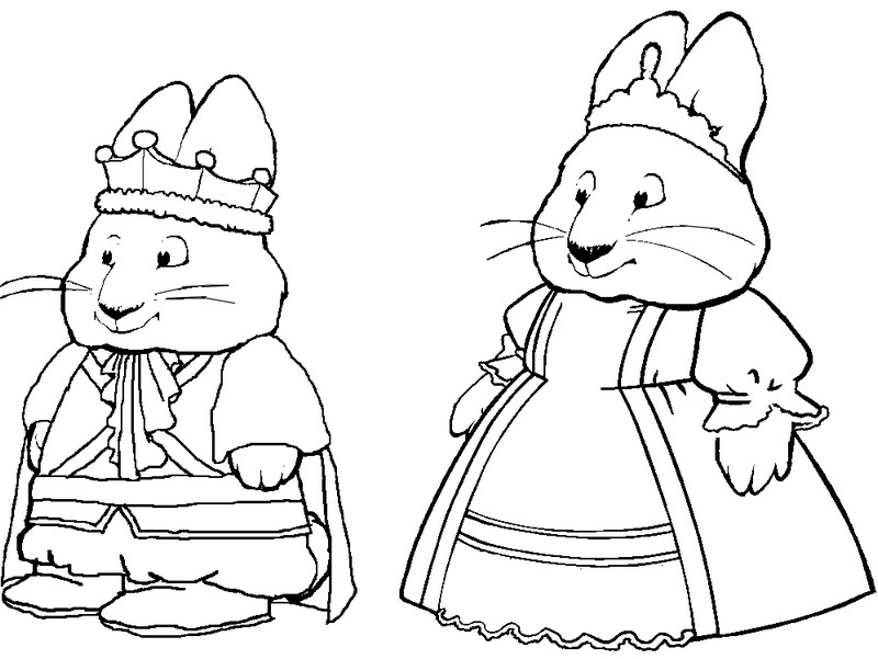 max and ruby coloring sheets - Coloring Pages Images