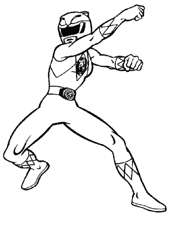 power ranger coloring sheets