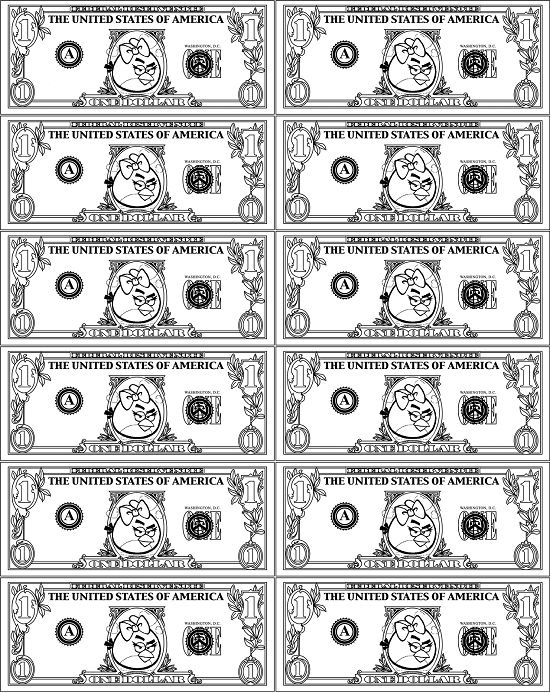 Ten Dollar Bill Coloring Page - Printable Coloring Pages For Kids ...