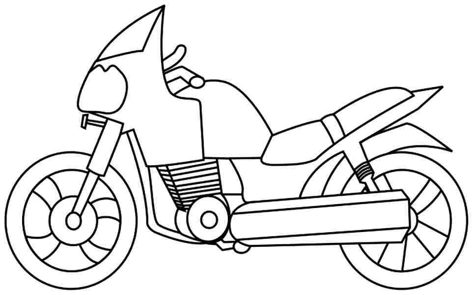 Motorcycle Coloring Sheets