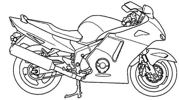 Printable Motorcycle Coloring Pages Me