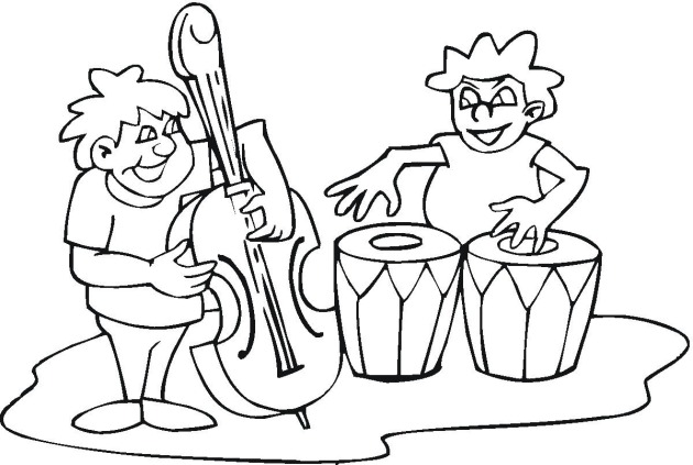 music coloring sheets