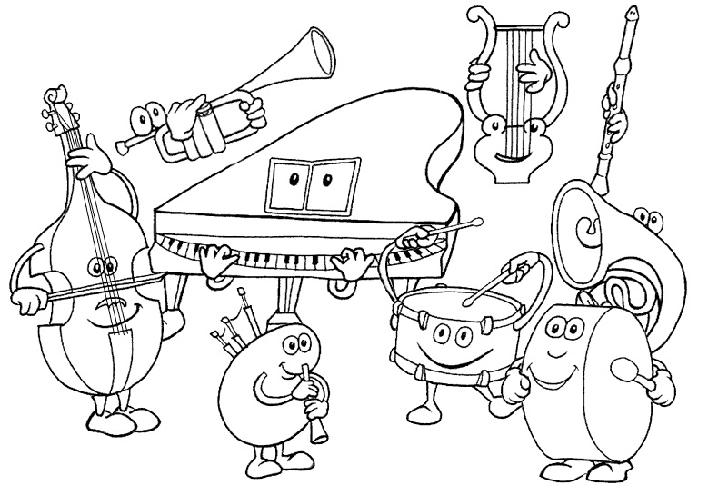 - Printable Music Coloring Pages ColoringMe.com