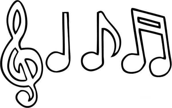 coloring pages music symbols - photo#19