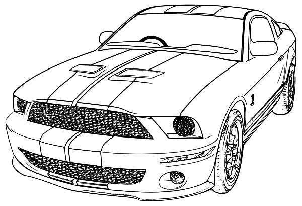 mustang coloring pages to print - photo#19