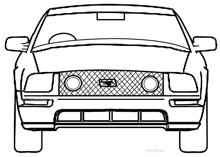 mustang coloring pages to print - photo#18